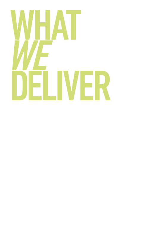 What we deliver